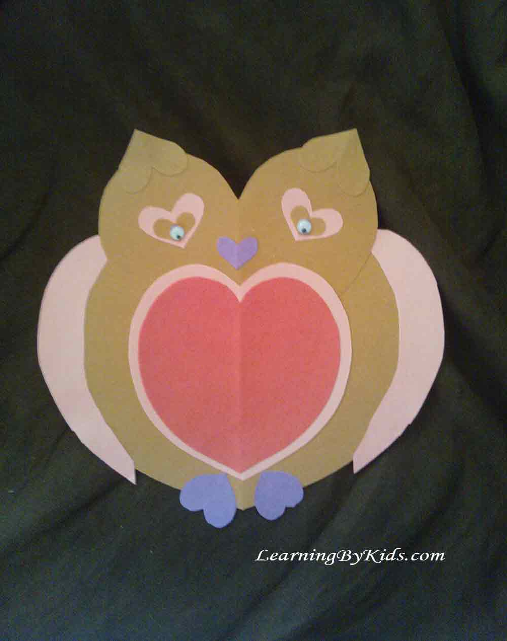 Heart-Shaped Owl I Learning By Kids I LearningByKids.com